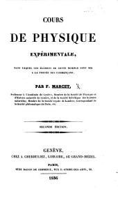 Cours de Physique expérimentale. ... Seconde édition