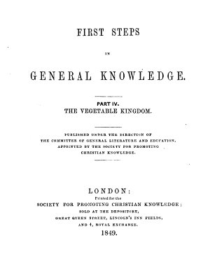 First steps in general knowledge  The vegetable kingdom PDF