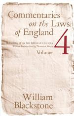 Commentaries on the Laws of England, Volume 4
