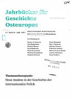 Jahrb  cher f  r Geschichte Osteuropas PDF