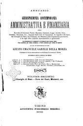 Annuario di giurisprudenza contemporanea amministrativa e finanziaria ossia raccolta di sentenze, pareri, massime, decisioni ...