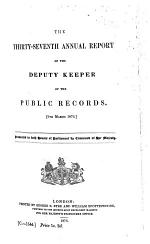 Annual Report by the Deputy Keeper of the Public Records