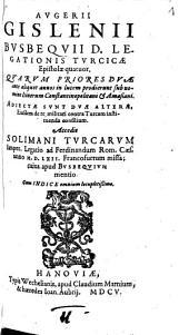 Legationis Turcicae Epistolae quatuor