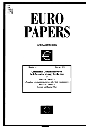 Commission Communication on the Information Strategy for the Euro PDF