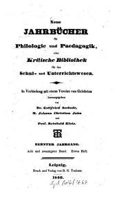 Neue Jahrbücher für Philologie und Pädagogik: Band 28