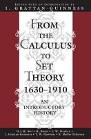 From the Calculus to Set Theory  1630 1910 PDF