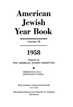 American Jewish Year Book PDF