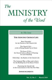 The Ministry of the Word, Vol. 22, No. 3: The Genuine Church Life