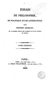 Essais de philosophie, de politique et de littérature, 1: Volume2