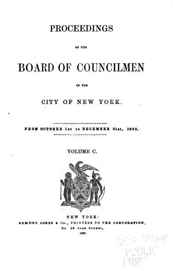Proceedings of the Board of Councilmen of the City of New York PDF