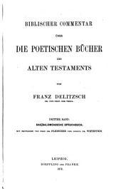 Biblischer Commentar über die poetischen Bücher des Alten Testaments: Band 2