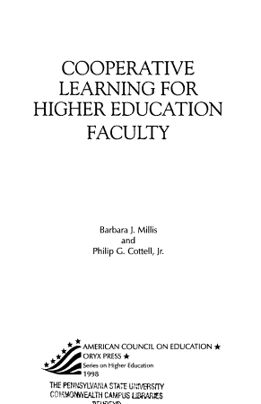 Cooperative Learning for Higher Education Faculty PDF