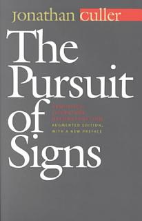 The Pursuit of Signs Book