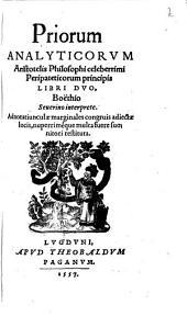 Priorum analyticorum libri duo