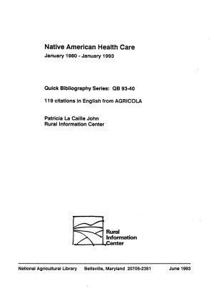 Native American Health Care