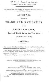 Trade and Navigation: Accounts Relating to Trade and Navigation of the United Kingdom for Each Month