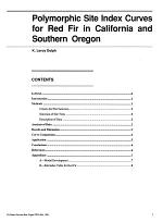 Polymorphic Site Index Curves for Red Fir in California and Southern Oregon