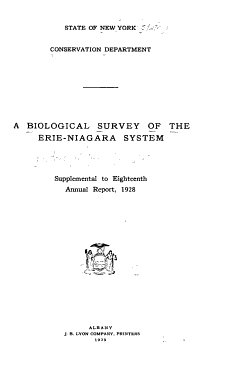 Biological Survey  of the Waters of New York State   PDF