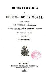 Deontología o ciencia de la moral