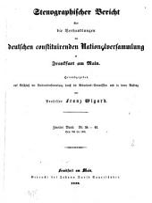 Stenographischer Bericht über die Verhandlungen der Deutschen constituirenden Nationalversammlung zu Frankfurt am Main: Band 2