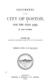 Documents of the City of Boston: Volume 3, Issues 41-99