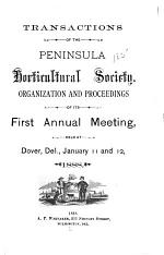 Transactions of the Peninsula Horticultural Society