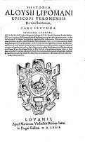 Historia de vitis sanctorum PDF