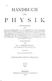 Handbuch der physik: Band 3,Ausgabe 2