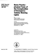Some psychophysical tests of the conspicuities of emergency vehicle warning lights: Issue 36; Issue 480