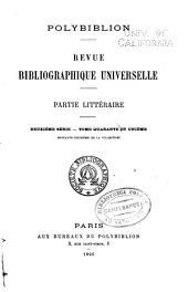 Polybiblion: Revue bibliographique universelle, Volume73