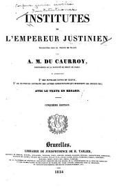 Institutes de l'empereur Justinien