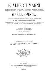 B. Alberti Magni Opera omnia: Volume 8