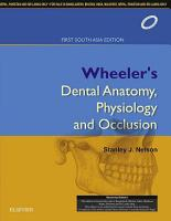 Wheeler s Dental Anatomy  Physiology and Occlusion  1st SAE   E book PDF