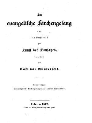 Der evangelischen Kirchengesang und sein Verh  ltnis zur Kunst des Tonsatzes PDF
