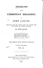 Ioannis Calvini Institutio Christianae religionis: Volume 2