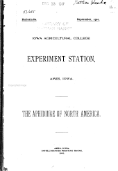 The Aphididae of North America