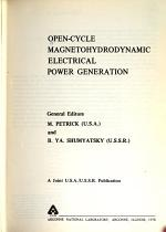 Open-cycle Magnetohydrodynamic Electrical Power Generation