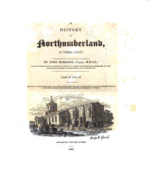 A History of Northumberland  in Three Parts PDF