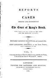 Reports of Cases Argued and Determined in the Court of King's Bench: With Tables of the Names of the Cases and the Principal Matters, Volume 5