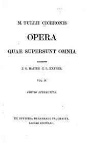 M. Tullii Ciceronis Opera quae supersunt omnia: Orationes