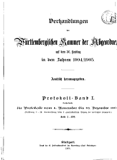 Verhandlungen in der Kammer der Abgeordneten des Königreichs Würtemberg im Jahre ...: Band 1