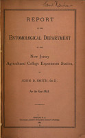 Report of the Entomological Department of the New Jersey Agricultural College Experiment Station PDF