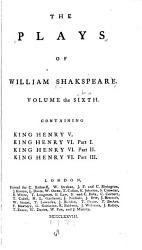 The Plays of William Shakespeare in Ten Volumes PDF
