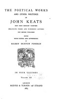 The Poetical Works and Other Writings of John Keats PDF
