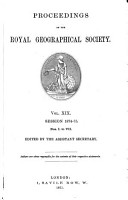 Proceedings of the Royal Geographical Society of London PDF