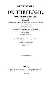 Dictionnaire de théologie: Volume4