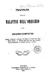 Trattato delle malattie dell'orecchio per Eduardo Giampietro