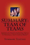 Team Of Teams Summary  Book PDF