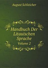 Handbuch Der Litauischen Sprache: Band 2