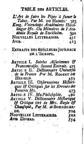 Journal des sçavans, avec des extraits des meilleurs journaux de France et d'Angleterre: Volume57